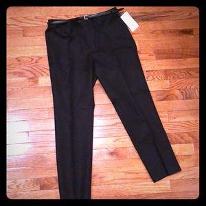 Zara Black Cotton Dress Pants Size 8